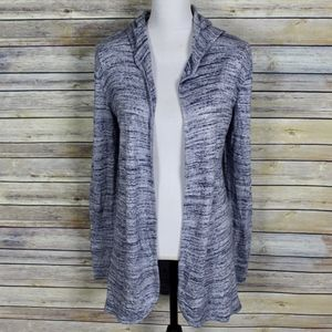 WHBM Space Dyed Hooded Cardigan Sweater Medium